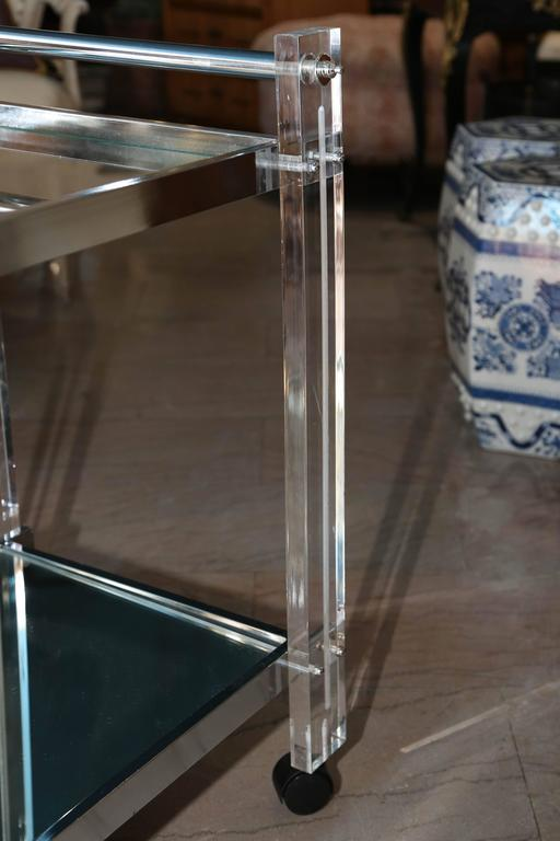 20th Century Mid-Century Lucite Bar Cart For Sale