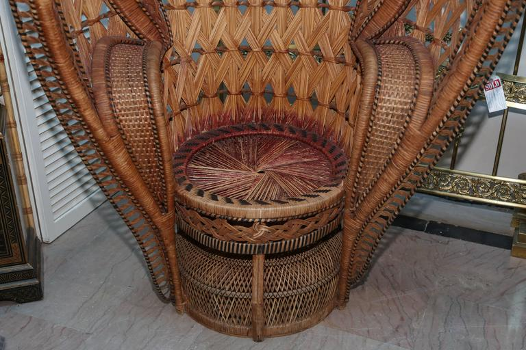 "20th Century Quintessential Anglo-Indian ""Peacock"" Chair For Sale"
