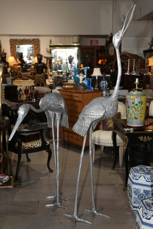 Imposing Pair of Cranes 6