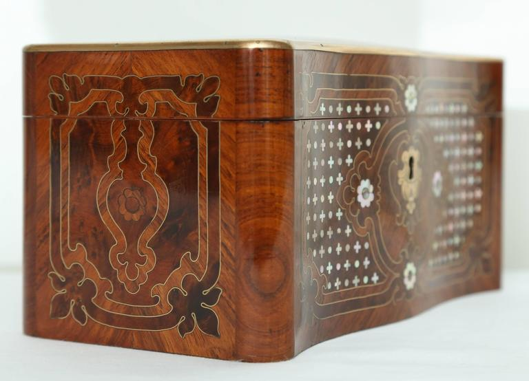Superb Napoleon III Inlaid Tea Caddy For Sale 1