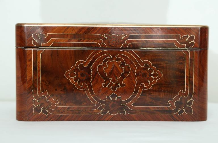 Superb Napoleon III Inlaid Tea Caddy For Sale 2