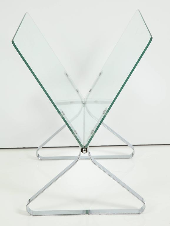 Polished Magazine Stand by Milo Baughman, C 1960 For Sale