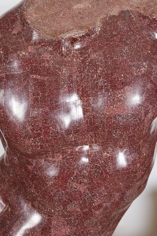 Great Britain (UK) Italian Porphyry Veneered Model of a Torso, after the Antique, Anthony Redmile For Sale