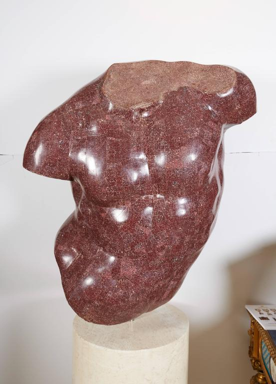 Italian Porphyry Veneered Model of a Torso, after the Antique, Anthony Redmile In Excellent Condition For Sale In New York, NY
