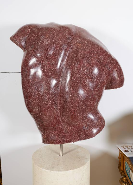 Italian Porphyry Veneered Model of a Torso, after the Antique, Anthony Redmile For Sale 1