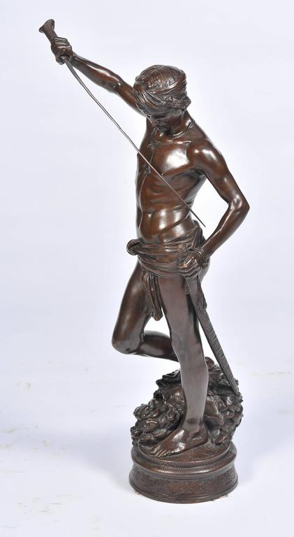 French Bronze David and Goliath by A. Mercie For Sale