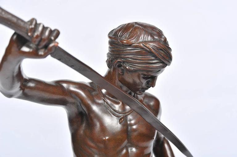 Bronze David and Goliath by A. Mercie In Good Condition For Sale In Brighton, Sussex