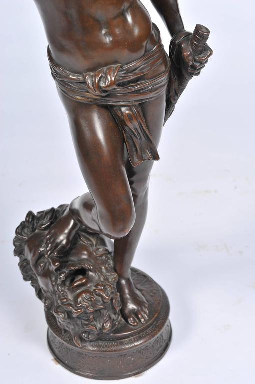 19th Century Bronze David and Goliath by A. Mercie For Sale