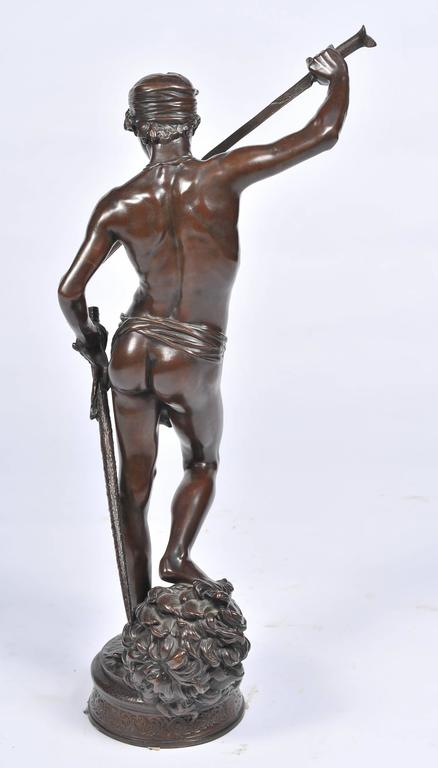 Bronze David and Goliath by A. Mercie For Sale 1