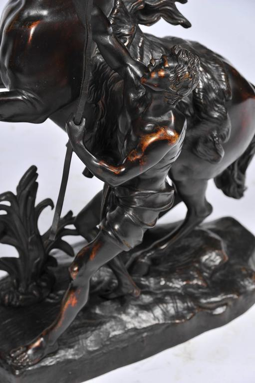 Pair of 19th Century Bronze Marley Horses In Good Condition For Sale In Brighton, Sussex