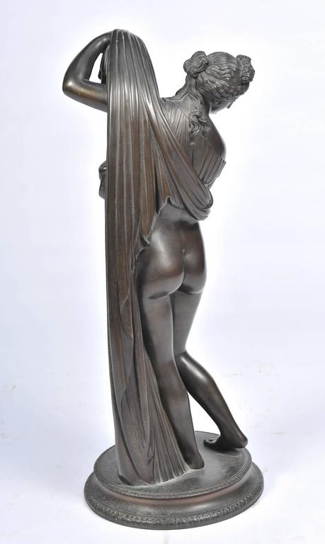 Grand Tour 19th Century Bronze of Female Nude by Amodia For Sale