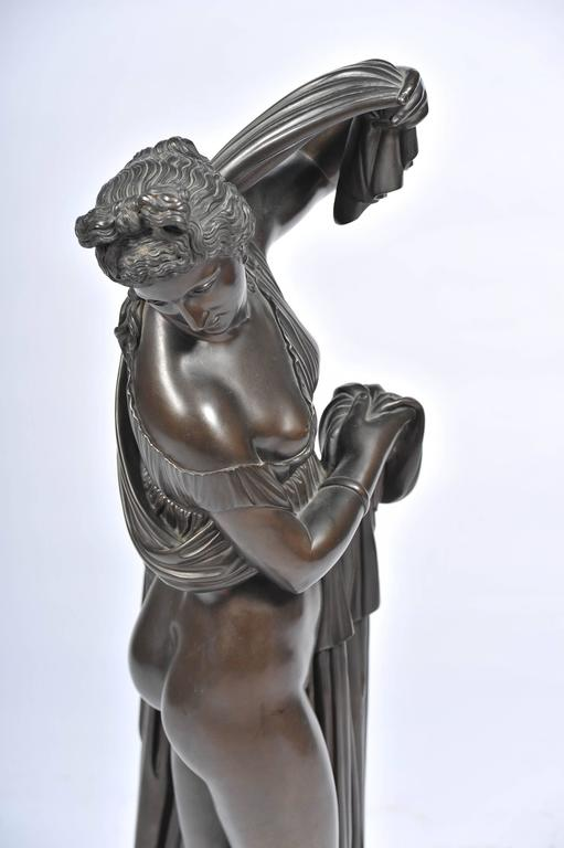 Cast 19th Century Bronze of Female Nude by Amodia For Sale