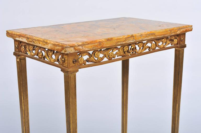 French Louis XVI Style Ormolu Side Table For Sale
