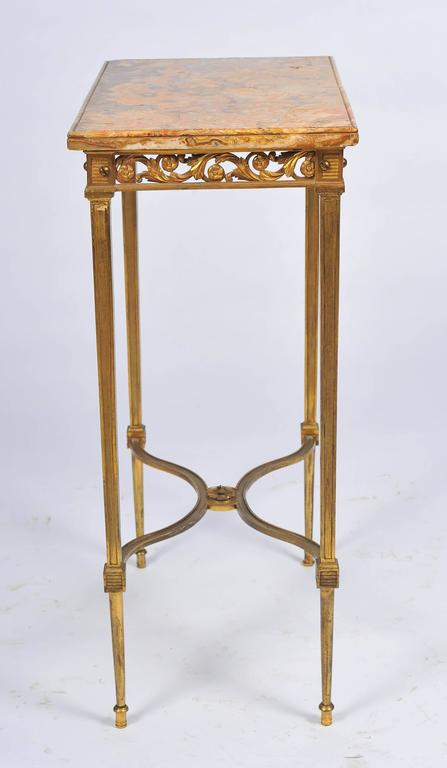 Louis XVI Style Ormolu Side Table For Sale 1