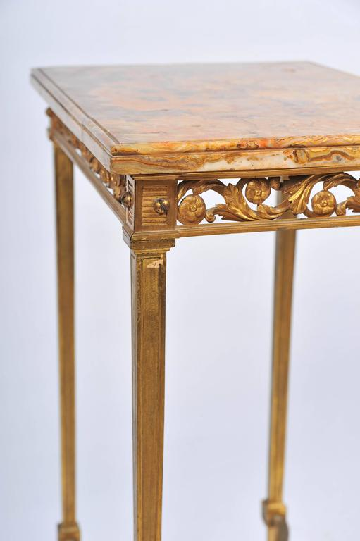 Louis XVI Style Ormolu Side Table For Sale 2