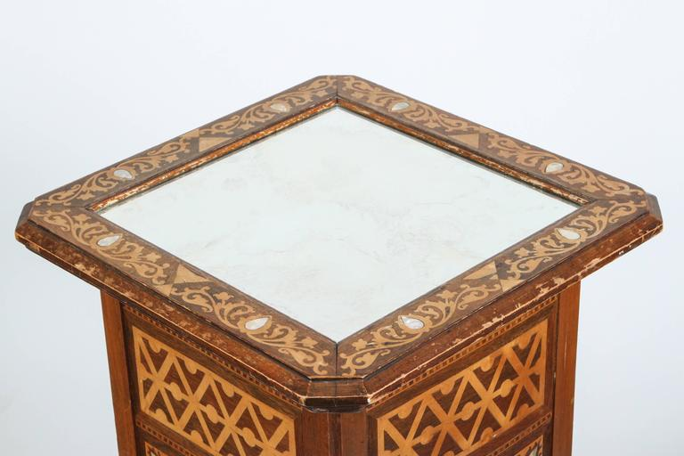 Hand-Crafted 19th Century Levantine Inlaid Moorish Side Table For Sale