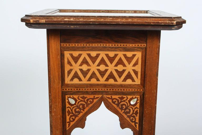 Mother-of-Pearl 19th Century Levantine Inlaid Moorish Side Table For Sale