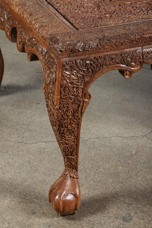 Anglo indonesian hand carved coffee table for sale at stdibs