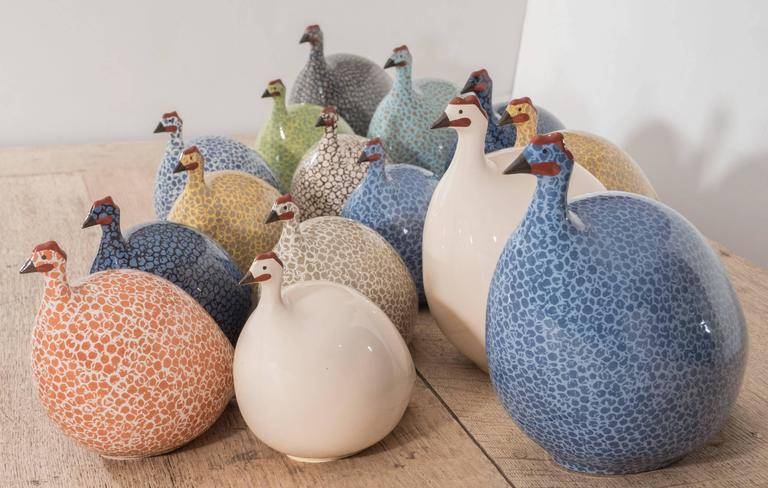 Assorted Ceramic Guinea Hens 7