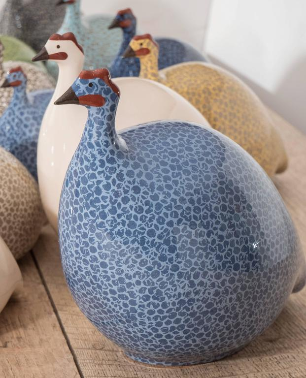 Small Ceramic Guinea Hen For Sale 3