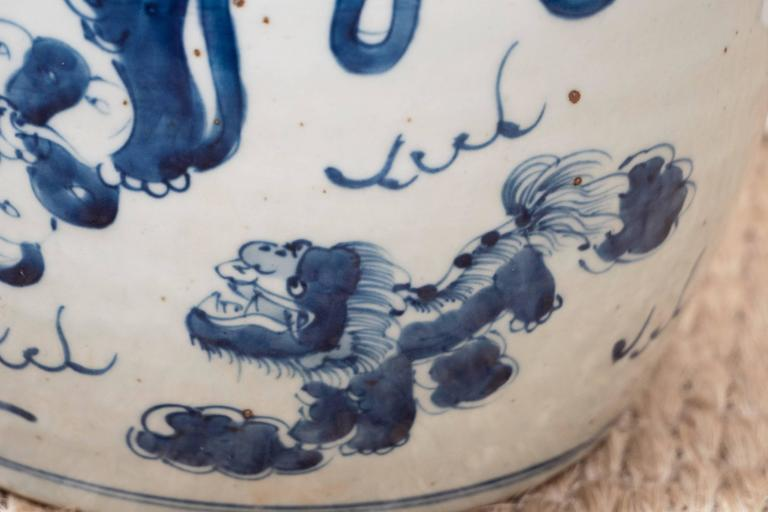 Pair of Blue and White Chinese Export Ginger Jars 2