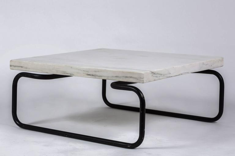 Metal Michael McCarthy for Cassina Italian Marble Cocktail Table For Sale