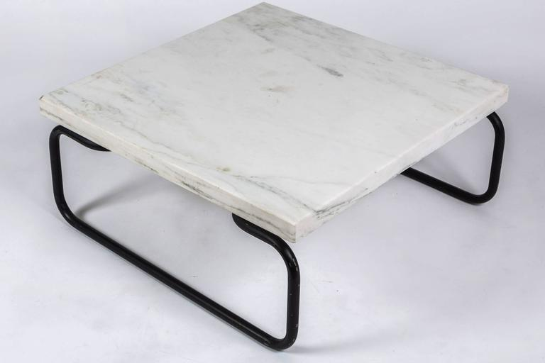 Michael McCarthy for Cassina Italian Marble Cocktail Table For Sale 1