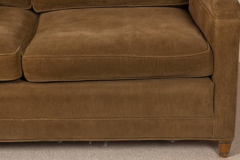 Mid-Century Danish Corduroy Sofa For Sale at 1stdibs