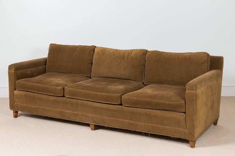 Mid-Century Danish Corduroy Sofa