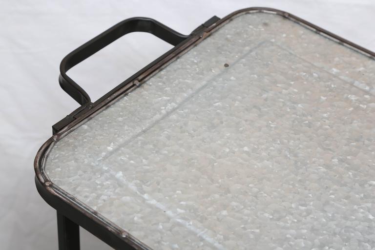 North American SALE! SALE! SALE! INDUSTRIAL METAL BAR CART 3 SHELVES  indoor outdoor For Sale