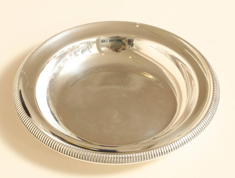 French Art Deco Sterling Silver Wine Bottle Coaster by Ravinet d'Enfert In Excellent Condition For Sale In New York, NY