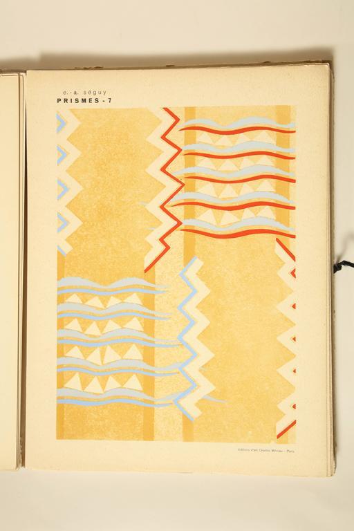 "Paper ""Prismes"" by E.A. Seguy For Sale"