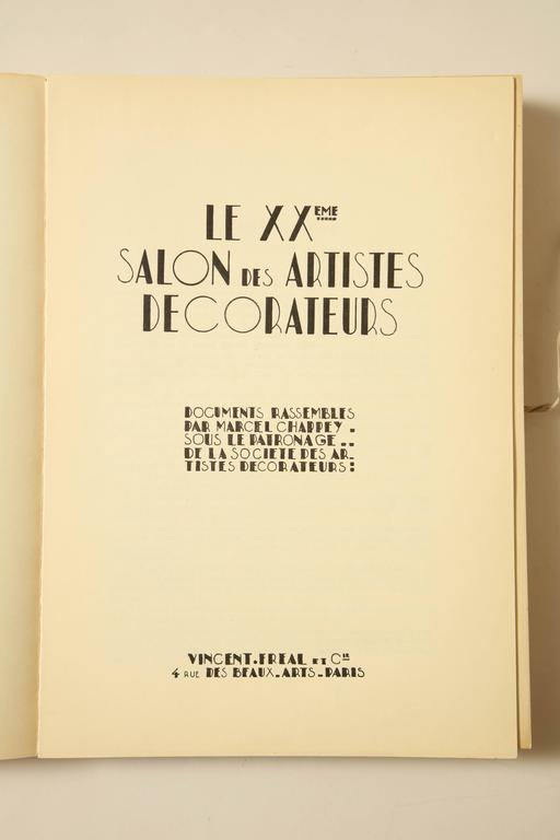 """Le Salon Des Artistes Decorateurs 1930"" by Marcel Chappey In Good Condition For Sale In New York, NY"