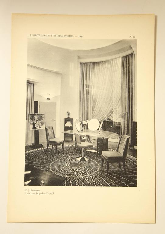 """Le Salon Des Artistes Decorateurs 1930"" by Marcel Chappey For Sale 1"