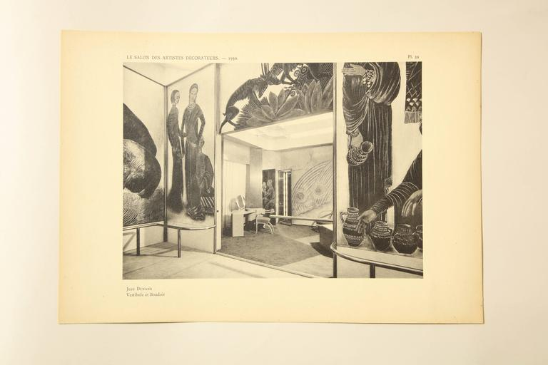 """Le Salon Des Artistes Decorateurs 1930"" by Marcel Chappey For Sale 2"