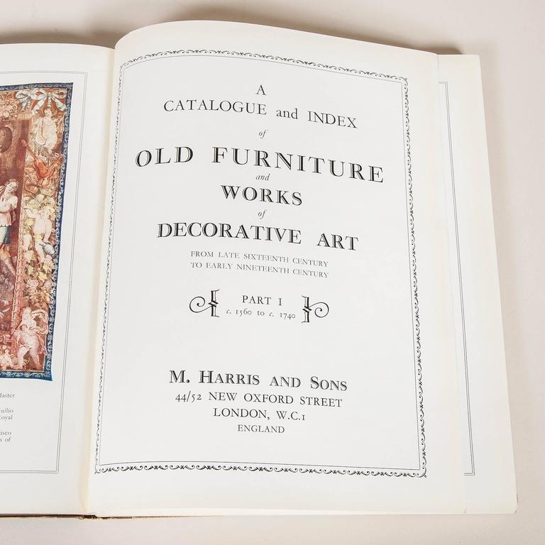 Mid-20th Century Moss Harris & Sons Catalogue and Index of Old Furniture in Three Volumes For Sale