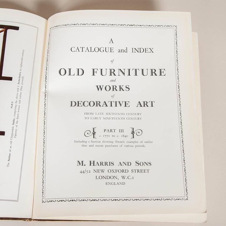 Moss Harris & Sons Catalogue and Index of Old Furniture in Three Volumes For Sale 2