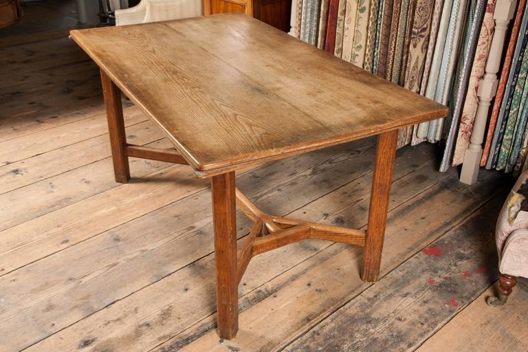 A Cotswold School Arts And Crafts Oak Table, Almost Certainly By Edward  Barnsley.