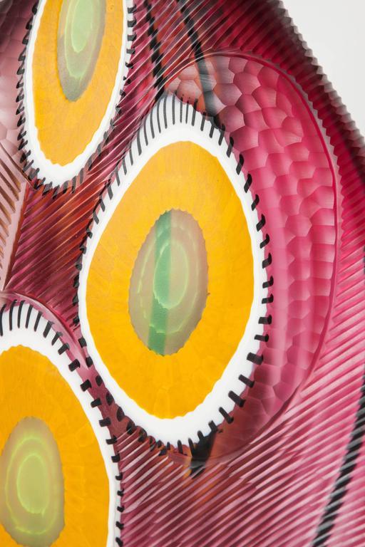 Modern Evviva II, a mixed coloured sculptural glass vase by Marco & Mattia Salvadore For Sale