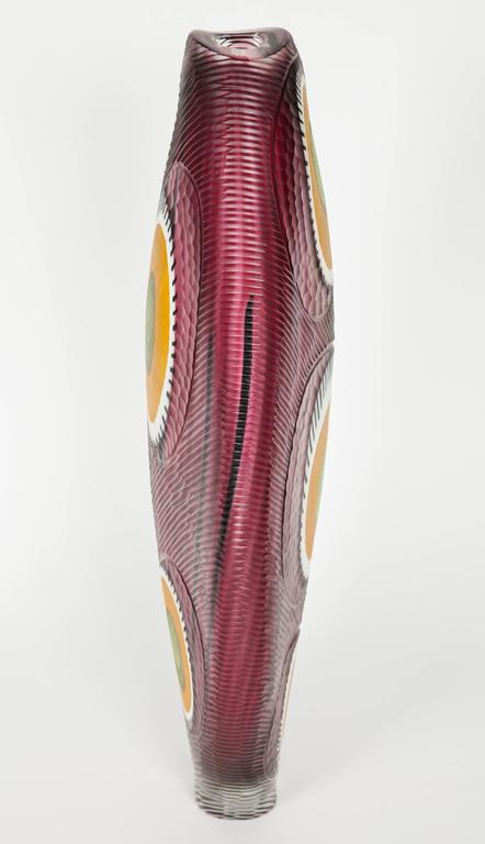 Evviva II, a mixed coloured sculptural glass vase by Marco & Mattia Salvadore In New Condition For Sale In London, GB