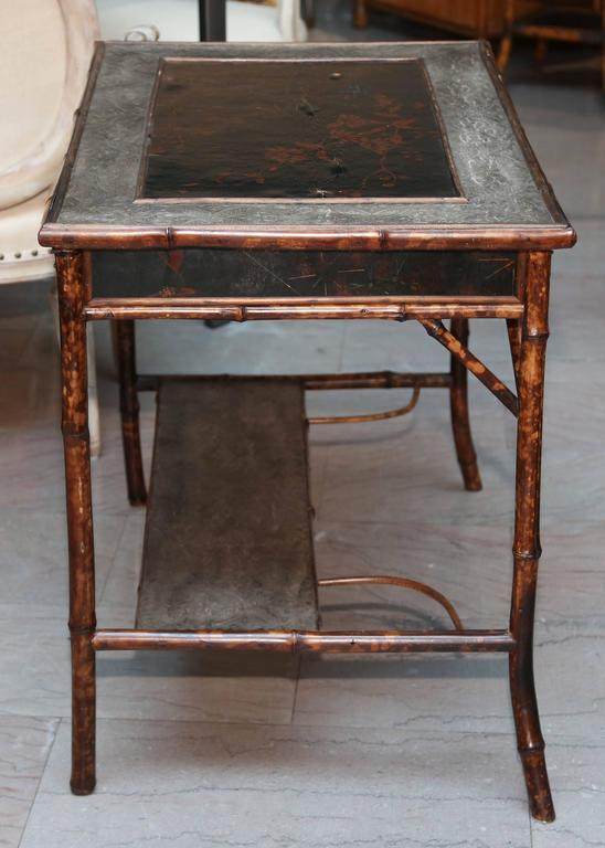 Superb 19th Century English Bamboo Writing Table For Sale 4