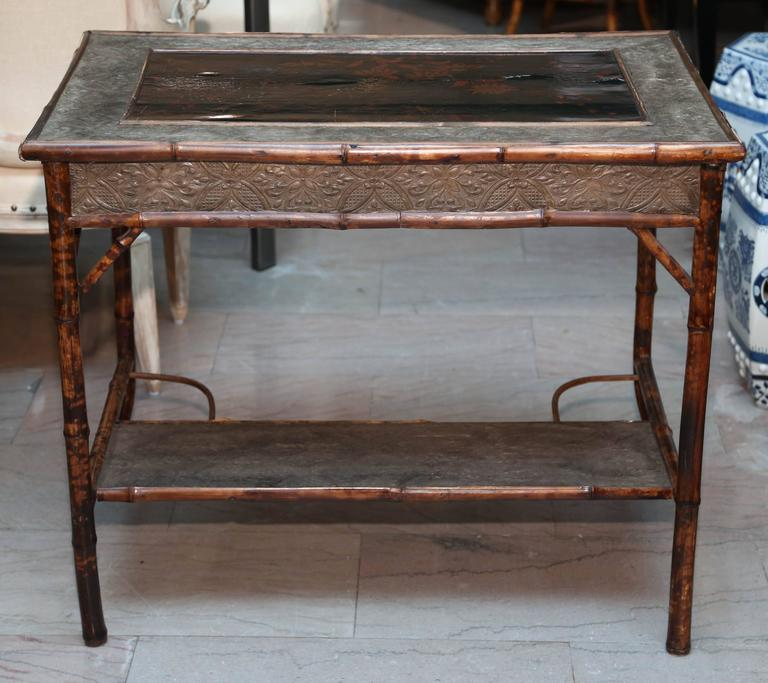 Superb 19th Century English Bamboo Writing Table For Sale 5