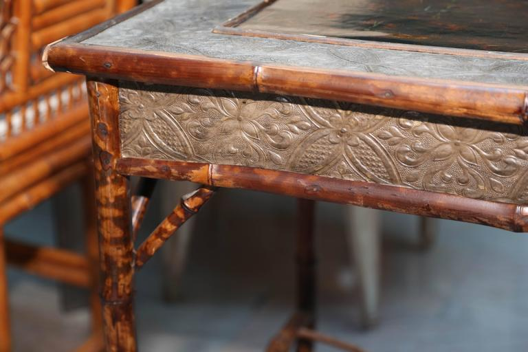 Superb 19th Century English Bamboo Writing Table For Sale 6