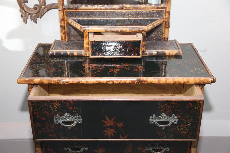 Superb 19th Century, English Bamboo Cottage Dresser For Sale 1