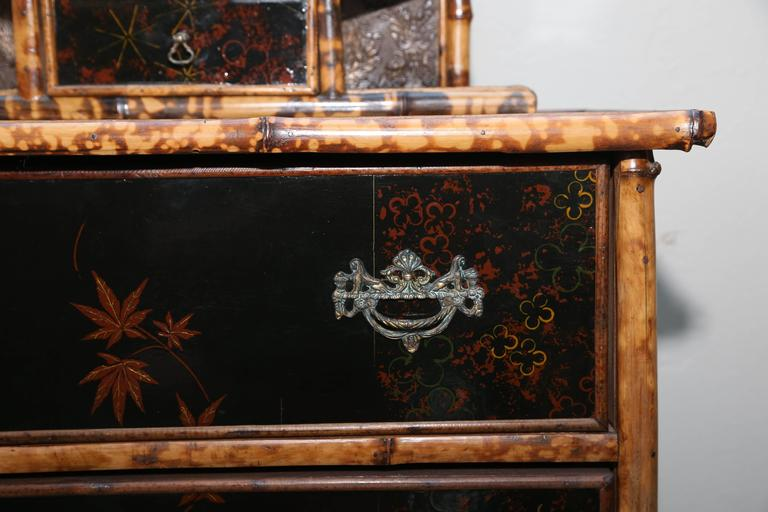 Superb 19th Century, English Bamboo Cottage Dresser For Sale 5