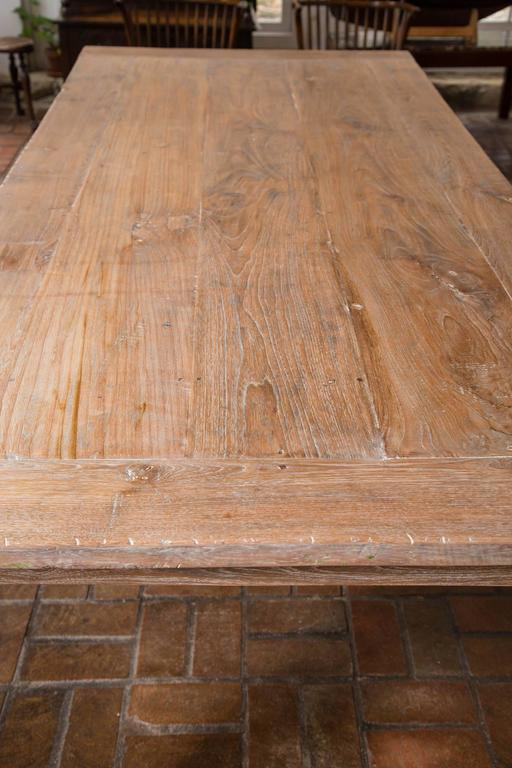 Antique Limed Chestnut Worktable Farm Table For Sale At