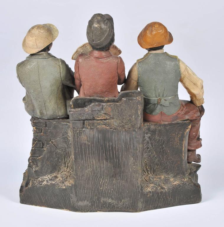 Goldscheider Style Terracotta Group In Good Condition For Sale In Brighton, Sussex