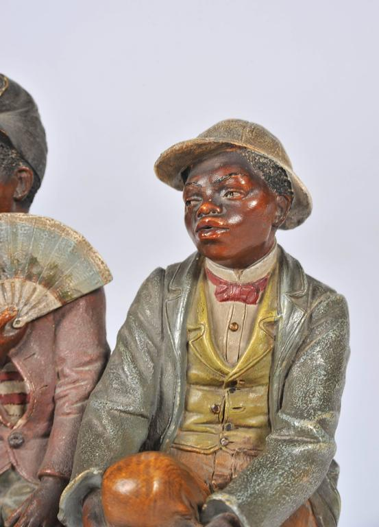 19th Century Goldscheider Style Terracotta Group For Sale