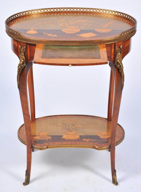 antique french inlaid side table in the style of charles topino for sale at 1stdibs. Black Bedroom Furniture Sets. Home Design Ideas
