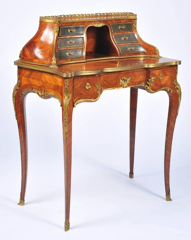 Antique French Ladies Writing Desk For Sale. A very good quality Louis XV  style French kingwood, ormolu-mounted bureau de- - Antique French Ladies Writing Desk For Sale At 1stdibs